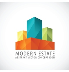 Modern or creative estate abstract concept icon vector