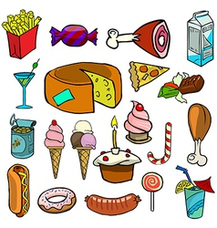 Cartoonish food vector