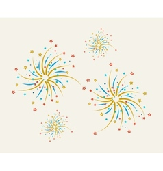 Fireworks design on a light background vector