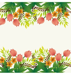 Flowers design vector