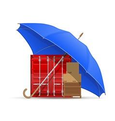 concept cargo under umbrella vector image