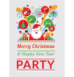 Santa claus with party icons vector