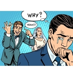 Envy man woman wedding love vector