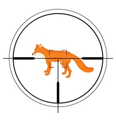 Animal target of hunting vector image