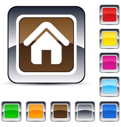 Home square button vector image