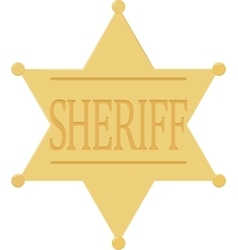 Sheriff badge star icon isolated on white vector