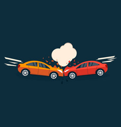 Accident road situation vector