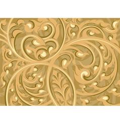 Beautiful brown vine art pattern background vector