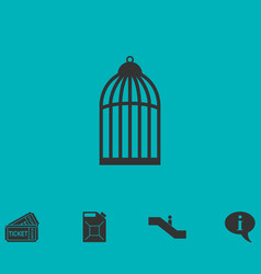 Bird cell icon flat vector