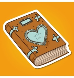 Book with decorative heart vector