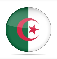 button with flag of Algeria vector image