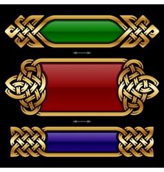 celtic frame set vector image