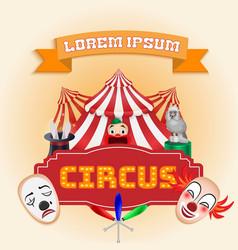 Circus poster magic show vector