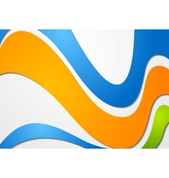 Colourful waves background vector image vector image