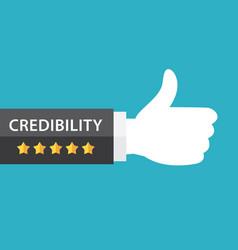 Credibility concept vector