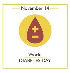 Diabetes Day vector image
