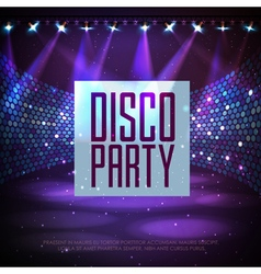 Disco abstract background vector image vector image