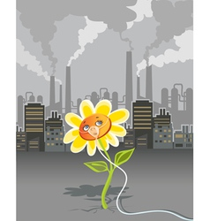 Environmental pollution vector image vector image