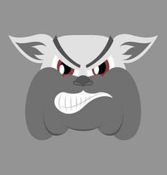 flat icon on theme angry bulldog animal vector image