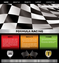 formula racing web vector image vector image