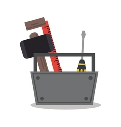 Isolated tools kit design vector image