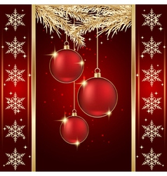 Luxury christmas background vector image