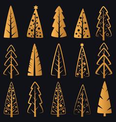 luxury rich decorative golden christmas vector image vector image