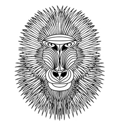 Mandrill vector image vector image