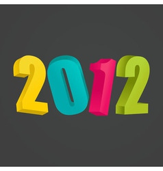 New Years card 2012 vector image