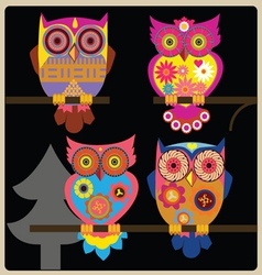 Owl night shcool vector