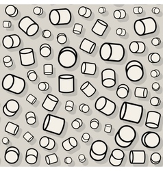 Seamless jumble random cylinder pattern vector