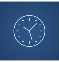 Wall clock line icon vector image vector image