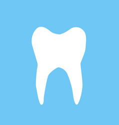 white tooth vector image vector image