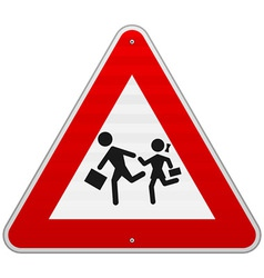 Pedestrian danger sign vector