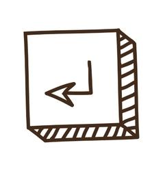 enter button icon vector image