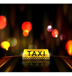 Taxi service in city vector