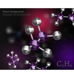 Ethane molecules background vector