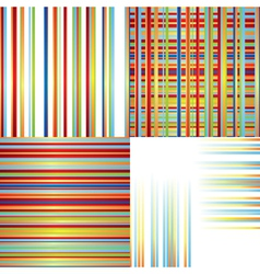 Set of patterns with color lines vector