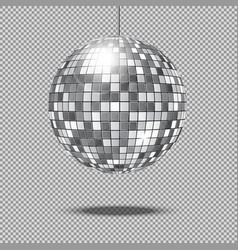 Mirror glitter disco ball vector