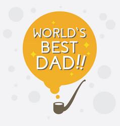 Worlds best dad vector