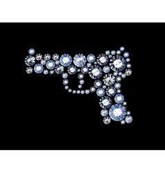 Diamond Gun vector image
