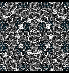 Traditional classic white pattern on blue vector