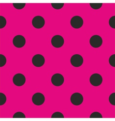 Tile pattern or background with black polka dots vector image