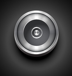 Cd metallic icon vector