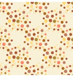 Beige and brown colors dotted seamless pattern vector