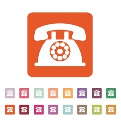 The phone icon telephone and support hotline vector