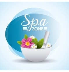 Spa relaxation area vector