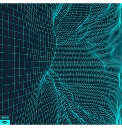 Grid background 3d vector