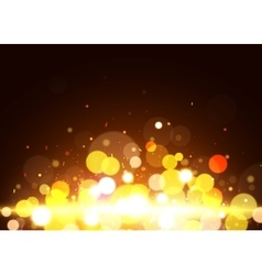 Bokeh background Yellow bokeh vector image
