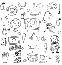 School toools in doodle collection stock vector